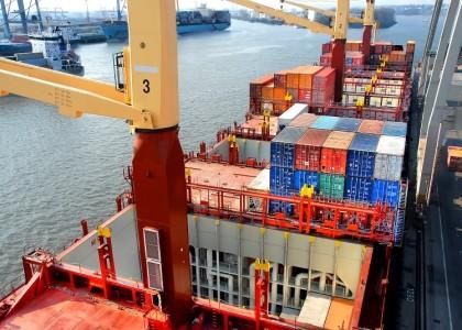 Containerschiff - Hamburg.
